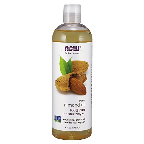 NOW Solutions, Sweet Almond Oil, 100% Pure Moisturizing Oil, Promotes Healthy-Looking Skin, 16-Ounce (Best Carrier Oil For Making Essential Oils)