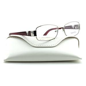 Valentino V2103R Women Rectangular Eyeglasses (Gunmetal Frame 033, 53)