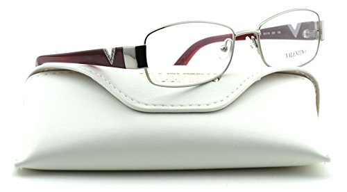 Valentino V2103R Women Rectangular Eyeglasses (Gunmetal Frame 033, - Valentino Glasses Eye