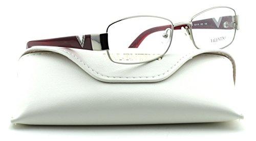 Valentino V2103R Women Rectangular Eyeglasses (Gunmetal Frame 033, - Eye Valentino Glasses