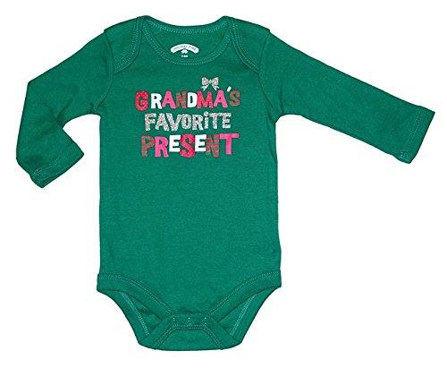 Topsville, Inc. Assorted Santa, Reindeer Baby Boys & Girls Christmas Bodysuit Dress up Outfit (Newborn, Grandma's Favorite Present)