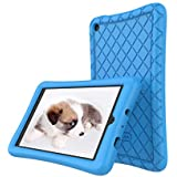 Amazon Fire 7 Tablet Case (7th Generation, 2017 Release Only) - Slim Silicone Light Weight Cover, Anti Slip Shockproof Kids Friendly Protective Case for Kindle Fire 7 Tablet, Blue