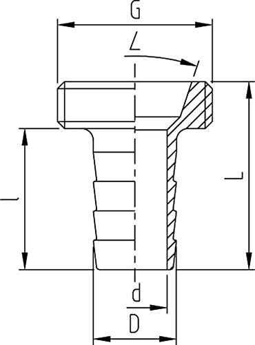 Messing ABA Beul 10001.226.2 Gewinde-Schlauchstutzen mit Au/ßengewinde G 3//4 f/ür Schlauch 3//8 x 10 zur Wassersteckkupplung 3//4