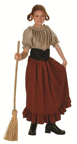 [Child's Renaissance Peasant Girl Halloween Costume (Size: Large 12-14)] (Women In History Costumes)