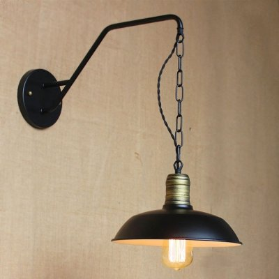 - hua 10'' Wide Small Hanging Barn Wall Sconce in Pewter Finish
