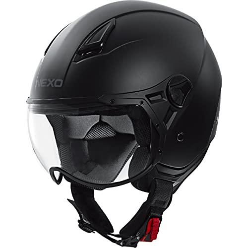Nexo Jethelm Motorradhelm Helm Motorrad Mopedhelm Demi Jet Helm City II, Unisex, Chopper/Cruiser, Ganzjährig…