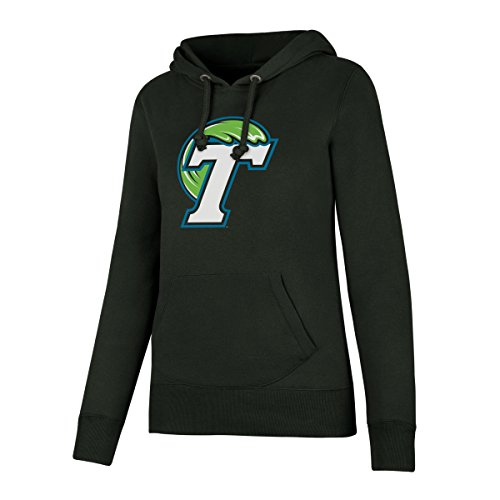 Brushed Cotton Wave - OTS NCAA Tulane Green Wave Women's Fleece Hoodie, Large, Dark