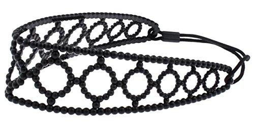 Capelli New York Ladies Dot Design Jelly Headwrap Black One - Headwrap Jelly