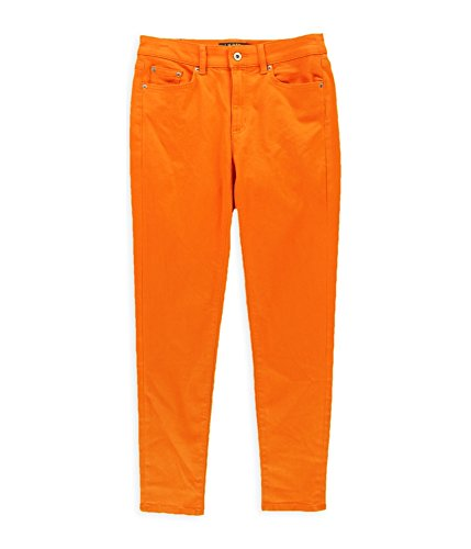 RALPH LAUREN Womens Premier Cropped Skinny Fit Jeans Orange 4x27 (Cropped Trousers Lauren Ralph)