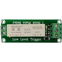 Baoblaze 1 piece DC 5V 12V 24V 5A 1 CH Relay Module PLC Amplifier Board Relay Module Low Level 220V - 5V