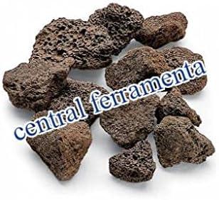 Piedra volcánica 2 Kg de roca recambio x Barbacoa a gas jardín Camping carbón
