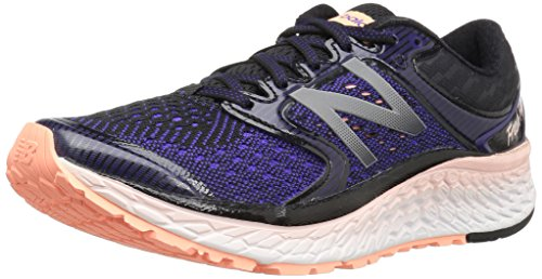 New Balance Women's Fresh Foam 1080v7 Running Shoe Deep Violet/Sunrise