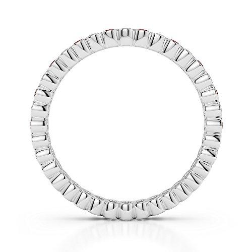Or blanc 18carats 0,20CT G-H/VS sertie de diamants ronds Cut Grenat et éternité Bague Agdr-1098