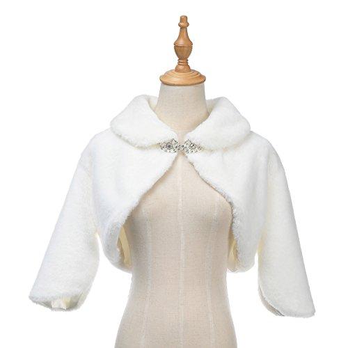 Fantastic Bridal Wedding Dress (Remedios Trumpet Sleeves Wedding Bolero Jacket Bridal Dress Shrug Wrap Coat, Ivory,)