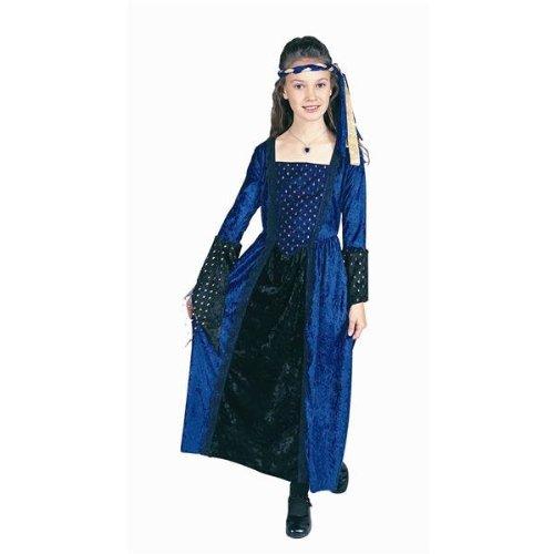 RG Costumes Blue Renaissance Girl Costume, Blue/Black, Medium