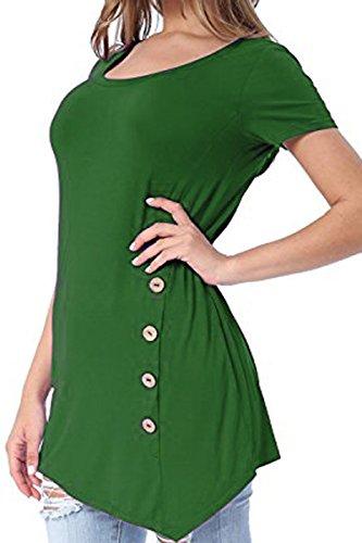 Laucote Womens Sleeve Asymmetrical Button