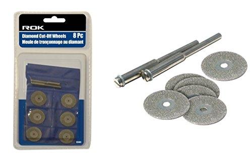 ROK 48340 Diamond Cutting Wheel Discs for Rotary Tools - 8pc Set