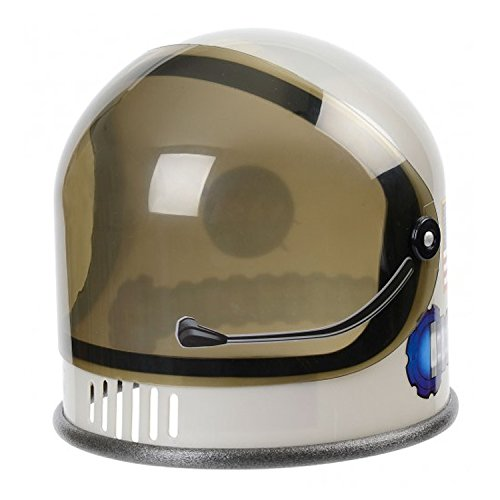 Trendy Apparel Shop Youth Junior NASA Astronaut Costume Plastic Helmet - Silver