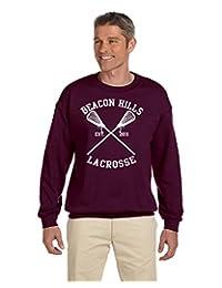 Allntrends Men's Sweatshirt Beacon Hills Lacrosse Player Name Number Maroon