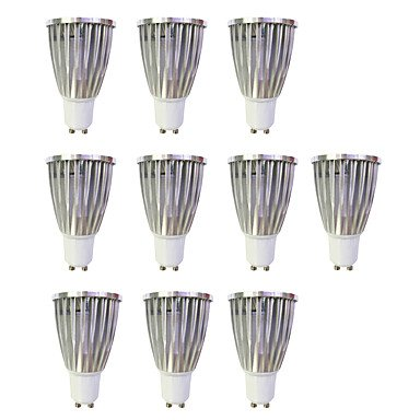 6W LED Spotlight GU10 1COB 480Lm Warm White/White Non-Dimmable AC220-240V 10Pcs , 220-240v by GuiXinWeiHeng