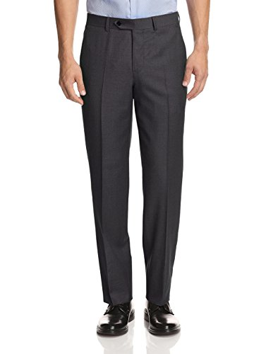 Grey Wool Trousers (GN GIORGIO NAPOLI Presidential Men's Suit Separates Dress Pants (38 W/Unhemmed, Charcoal))