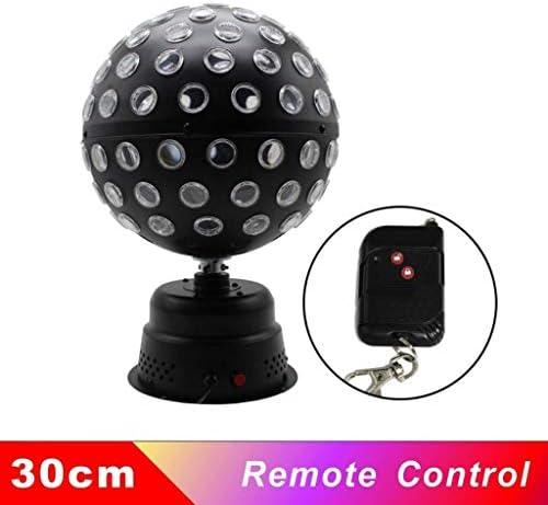 ディスコボールストロボライトマルチカラーボールエフェクトプロジェクターステージパーティーライトリモートコントロール音楽は、結婚式DJパブバー・クラブギフトのために起動します (Color : Remote Control, Size : 30cm)