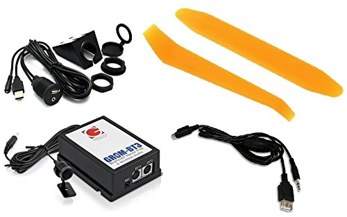 Grom Audio TOYNB3 Bluetooth Hands-free phone and streaming music kit PLUS Grom 35USB auxiliary audio and USB charging cable PLUS dash-mount USB/Aux kit PLUS dash trim removal tools. For select 03+ Toyota/Lexus vehicles. (Bundle: 4 items)