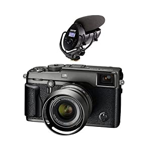 Fujifilm X-Pro2 Mirrorless Camera with XF 23mm f/2 R WR Lens, Graphite - With Tascam DR-10SG Camera-Mountable Audio Recorder with Shotgun Microphone