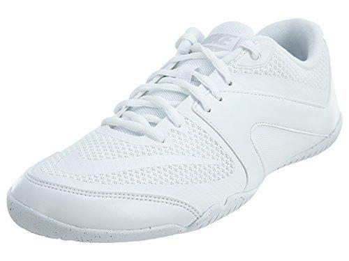 Nike Women's Cheer Scorpion Cross Training Shoes (7 B(M) US, White/White/Pure Platinum) - Cheerleading Shoes Nike