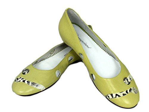Piampiani Schuhe Shoe Slipper Loafers Made in Italy 46 Limone
