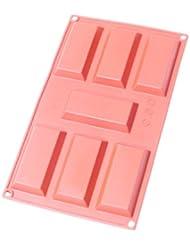 Oggibox Q-54 7-Cavity Silicone chocolate bar mold