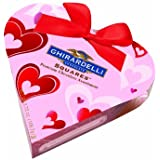 Ghirardelli Valentine's Chocolate Squares, Premium Chocolate Assortment, 3.72-Ounce Small Pink Heart Gift Box