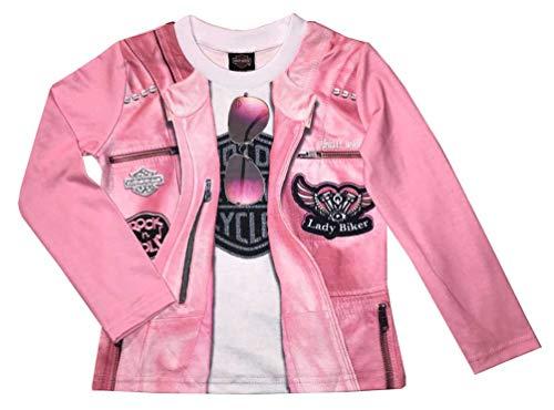 Harley-Davidson Little Girls' Knit Long Sleeve Toddler Tee, Pink 1024815 ()