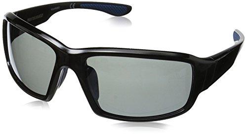 Foster Grant Men's Adrift Polarized Rectangular Sunglasses, Black, 174 mm by Foster Grant