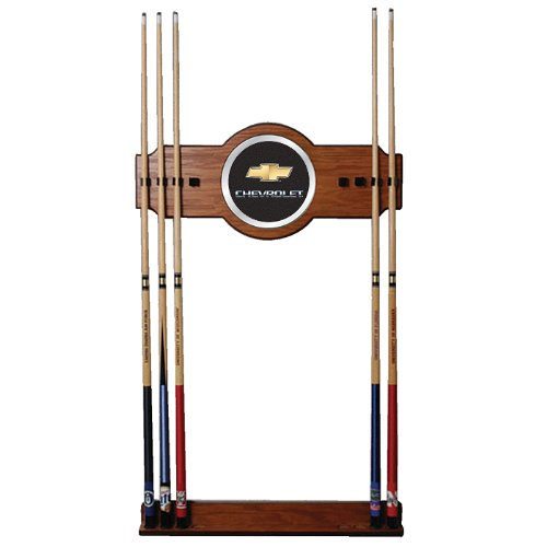 Chevrolet 2 piece Wood and Mirror Wall Cue Rack (GM6000CH) -