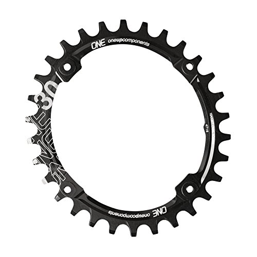 Oval Component - OneUp Components 104BCD Oval Traction Narrow Wide Chainring, 30T Black
