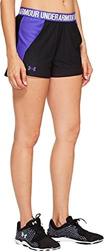 Under Armour Women's New Play up Shorts Black/Constellation Purple/Constellation Purple Shorts by Under Armour
