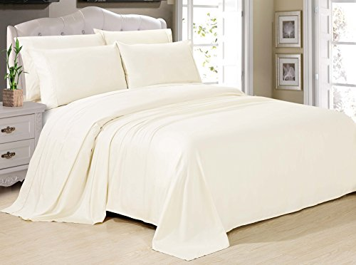 Swift Home Deluxe Resort-Style Silky Soft Bamboo Cotton Bedding Sheet Set -Twin, White - Bamboo Set Bedroom Set