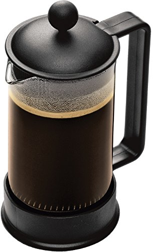Bodum Brazil French Press Coffee Maker, 12 Ounce, .35 Liter, (3 Cup), Black