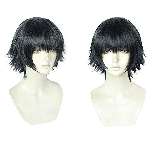 magic acgn Black Short Cosplay Wig Game Hair fashion Party Halloween Wig   ()