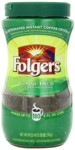 Folgers Classic Decaf Instant Coffee, 12 Ounce (Pack of 12) by Folgers