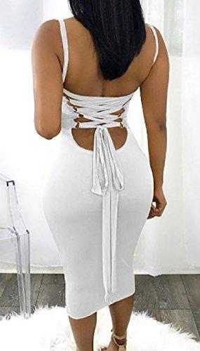 Dresses Club White Coolred Sling Fit Women Straps Sleeveless Backless Cross Slim qa8vzB