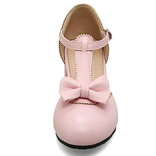TAOFFEN Pink Moda Donna Sandali Scarpe Cinturino rwUrxq6Cf