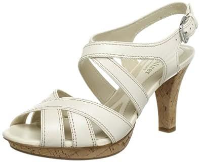 Naturalizer DHANI B6562L1251 - Sandalias fashion de cuero para mujer, color blanco, talla 39