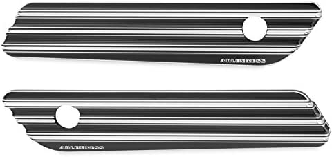 Arlen Ness 03–608サドルバッグラッチカバー–10-gauge–ブラック