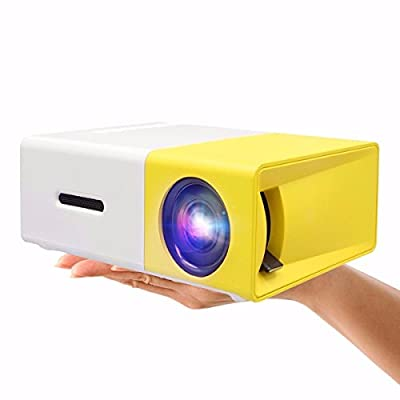 Mini Projector,ELEGIANT Portable 1080P LED Projector Outdoor Home Cinema Theater with PC Laptop USB/SD/AV/HDMI Input Pocket Projector for Video TV Movie Party Game Pico Projector Built-in Battery
