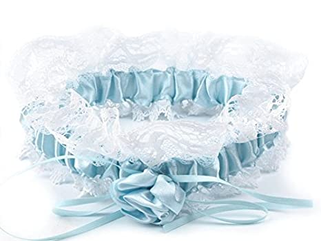 reputable site 3a250 45894 Strumpfband mit Verzierung und Spitze blau,hochwertig,edel und elegant,  Hochzeit,Wedding