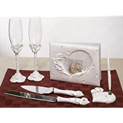 Crystal Calla Lily Theme Bridal Accessories Set