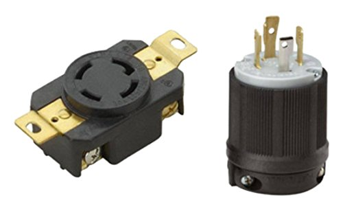OCSParts L14-30PC NEMA L14-30 Plug and Receptacle Set - Rated for 30A, 125/250V, 4-Wire, 3 Pole - cUL Listed (Pack of 2)