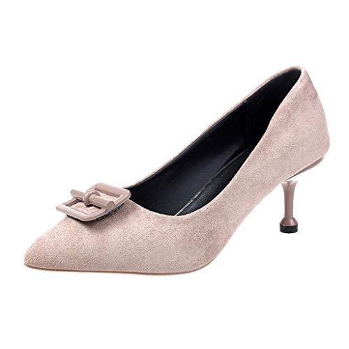 Shoes Mary Punta Bocca Sandali Di Basse Aguzza Artificiale Donna Cachi Alto Sottile Superficiale Comode Col Scarpe Alti Pompa Estate Court Jane Tacco Tacchi Party Pelle xwqAFUq0n